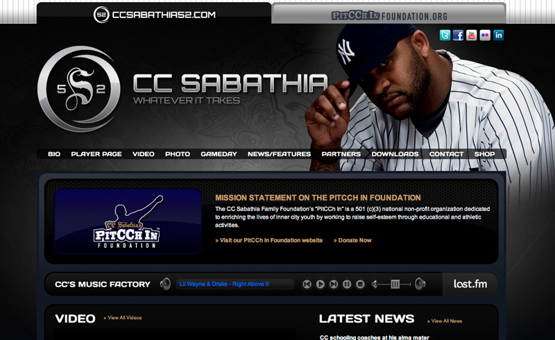 CC Sabathia52.com and PittCChInFoundation.org launch to Critical Success!