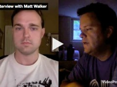 "Matt Walker gets his first Video Interview on ""LifeoftheFreelancer.com"""
