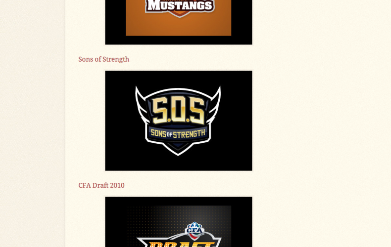 "7 Walk Design Logos Featured in ""Showcase of Illustrated American Sports Themed Logos"""