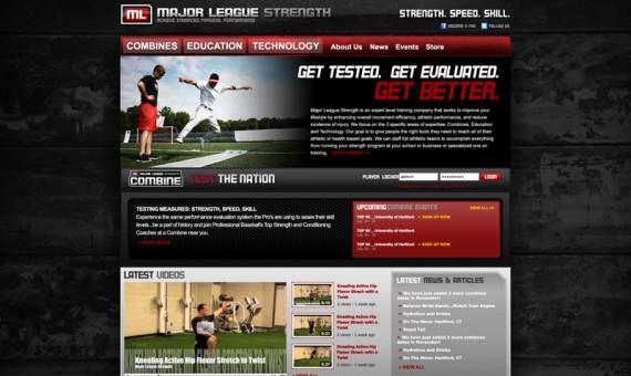 Major League Strength Website