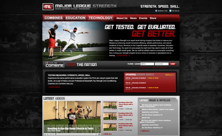 Major League Strength Website