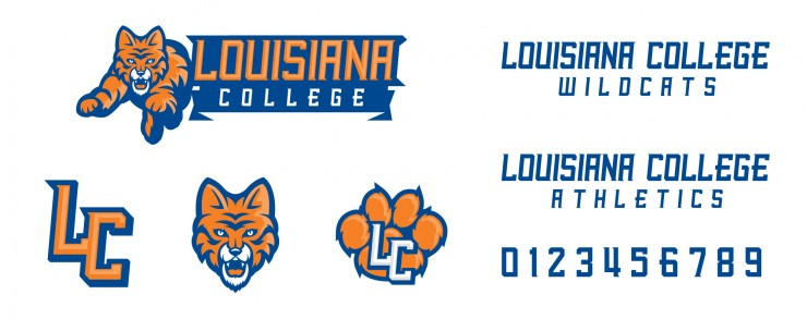 louisiana wildcats logo logo designed for louisiana college athletics