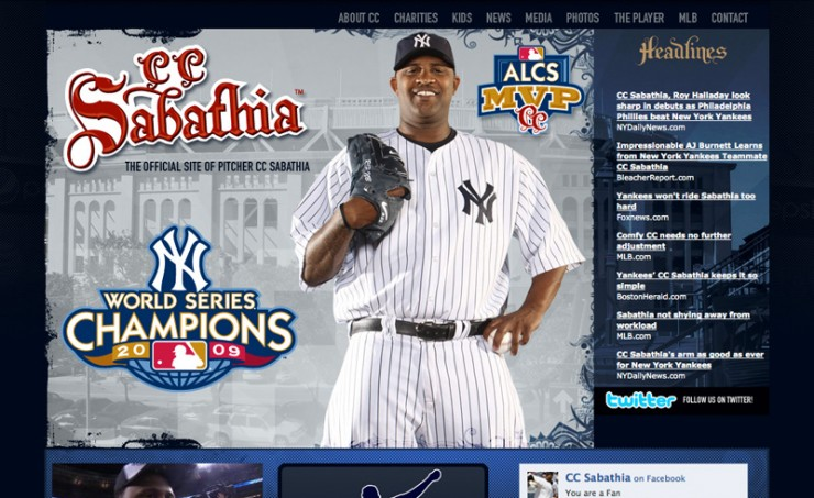 CC Sabathia Official Website