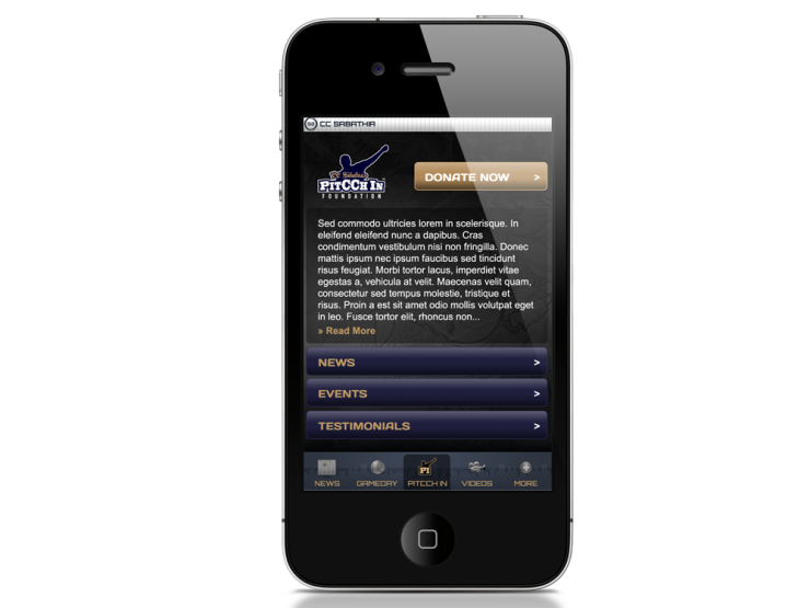 CC Sabathia iPhone App