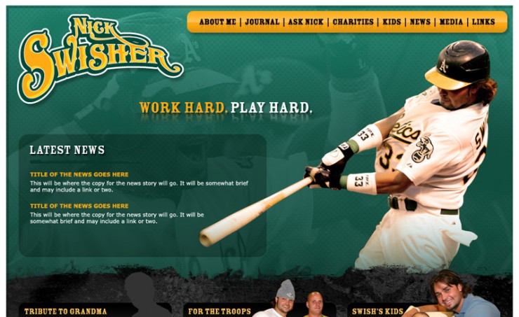 Nick Swisher Official Website