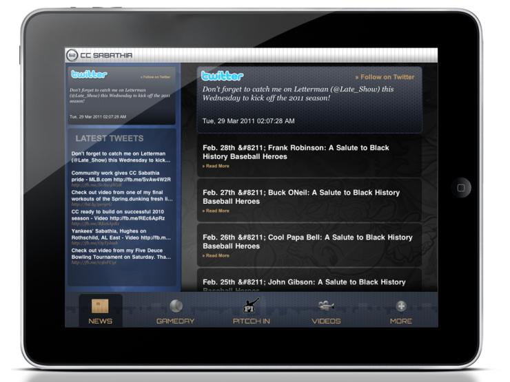 CC Sabathia iPad App