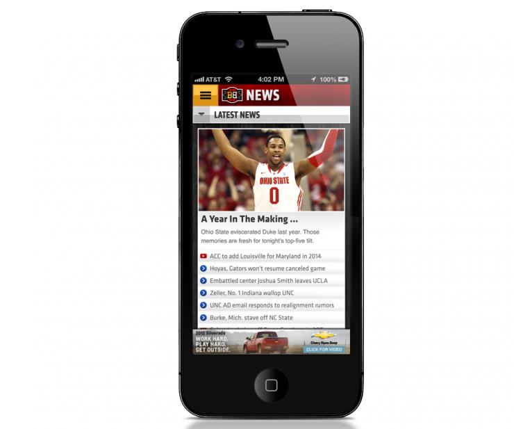ESPN Bracket Bound iPhone App