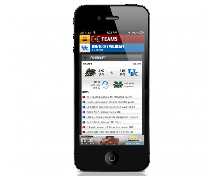 Espn Bracket Bound Iphone App Walk Design