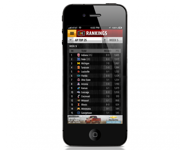 ESPN Bracket Bound iPhone App