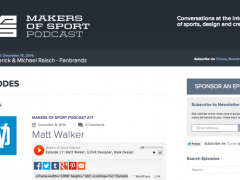 Matt Does The Makers of Sport Podcast!