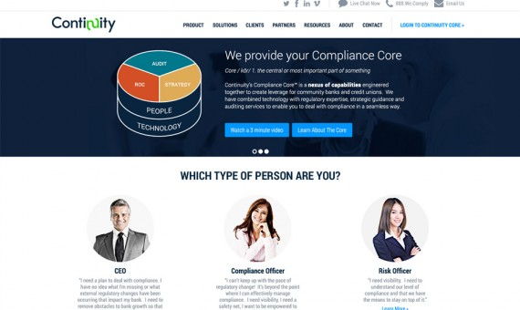 Continuity Marketing Site Redesign