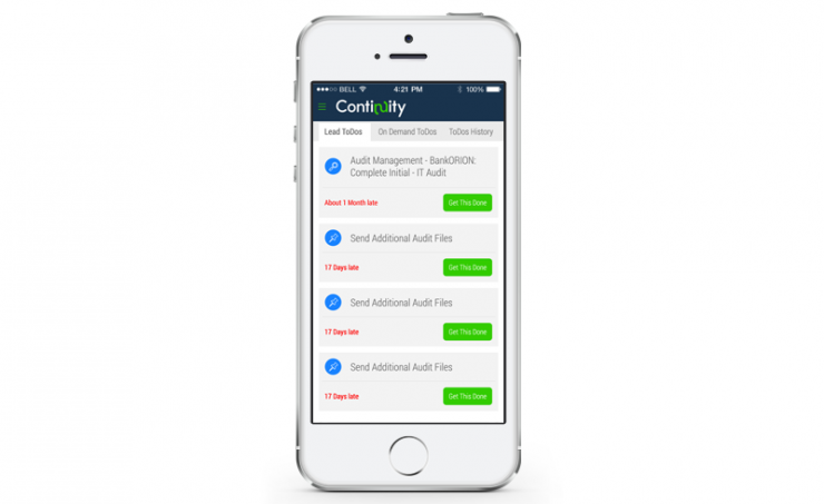 Continuity Control Platform Mobile