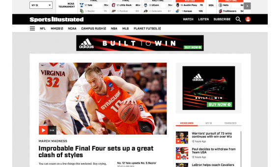 Sports Illustrated 2016 Redesign – Desktop