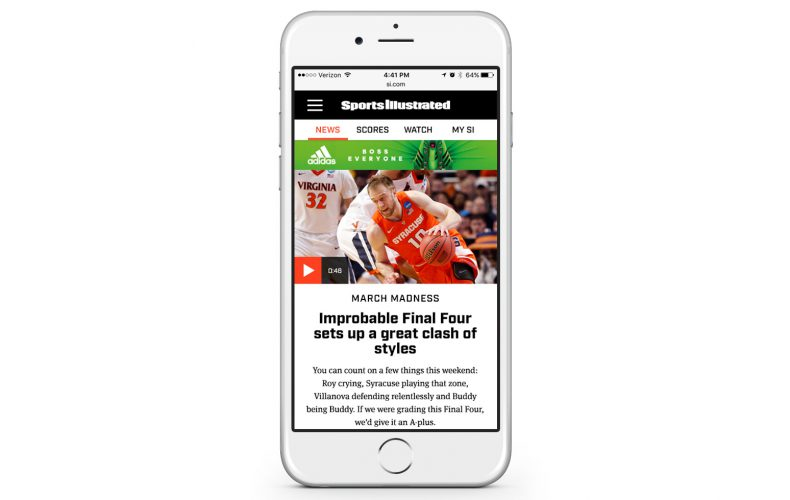 Sports Illustrated 2016 Redesign – Mobile