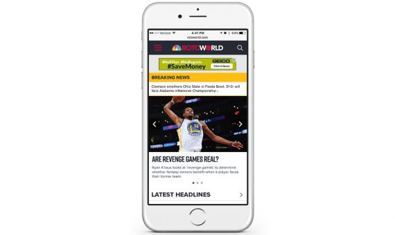 2018 NBC Sports RotoWorld Mobile Redesign