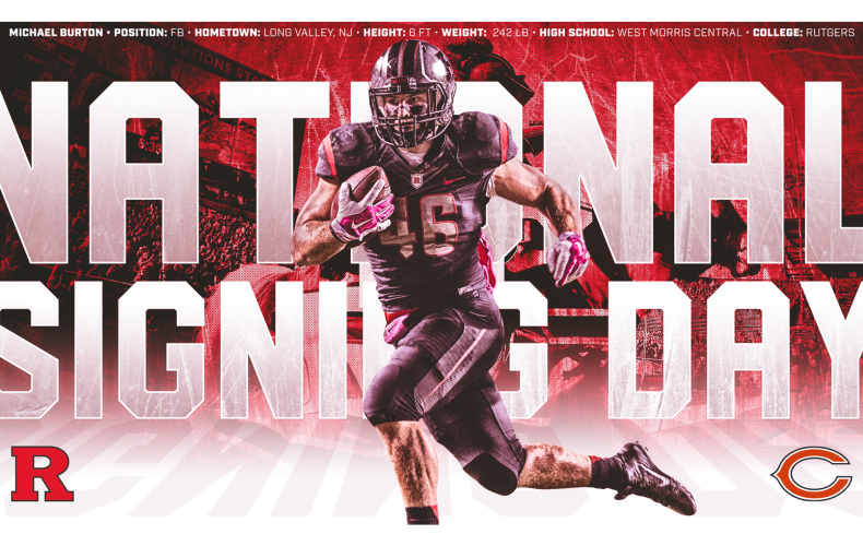 Mike Burton National Signing Day Graphic