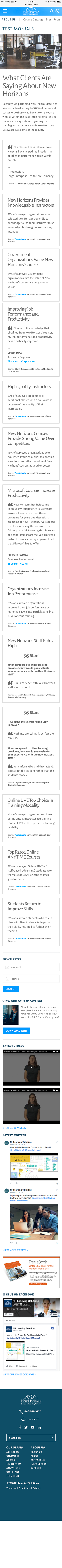 New Horizons Learning Solutions Mobile