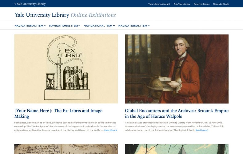 Yale Library Online Exhibits