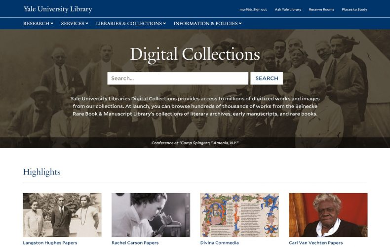 Yale Library Digital Collections