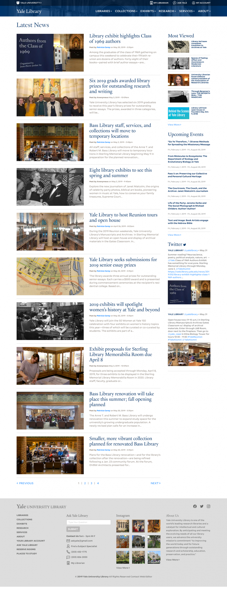 Yale Library Redesign Concept