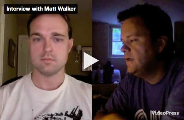 """Matt Walker gets his first Video Interview on """"LifeoftheFreelancer.com"""""""