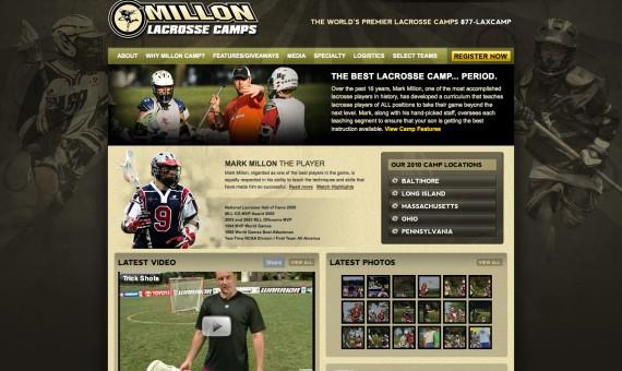 Millon Lacrosse Camps Website