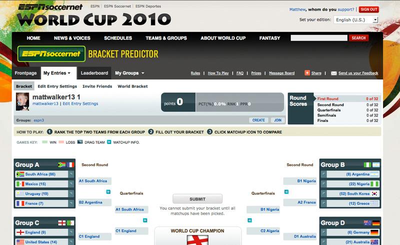 ESPN Bracket Predictor