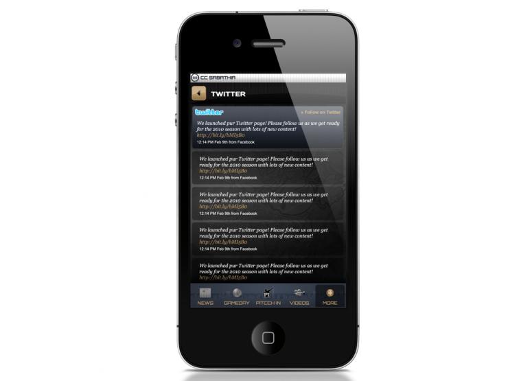 CC Sabathia iPhone App