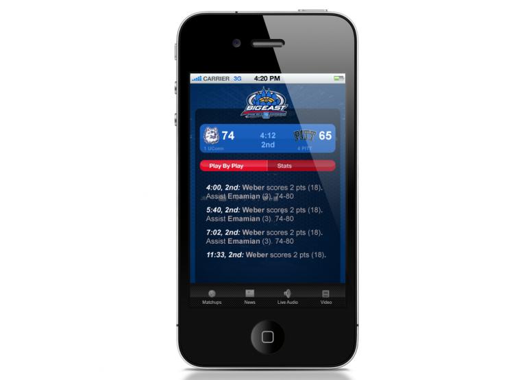 Big East iPhone App