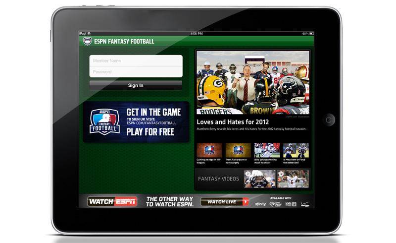 ESPN FFL iPad App