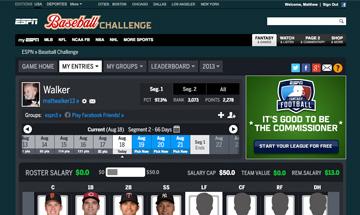 ESPN Baseball Challenge