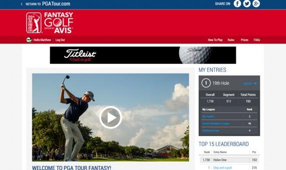 PGA Tour Fantasy Golf Web